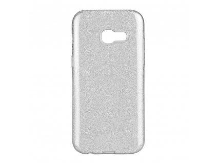 Pouzdro Forcell SHINING Samsung Galaxy A3 2017 stříbrné