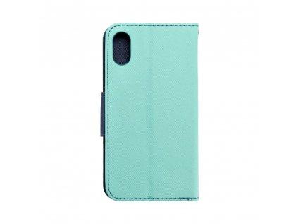 Fancy pouzdro Book - Apple Iphone X mátové/granátové