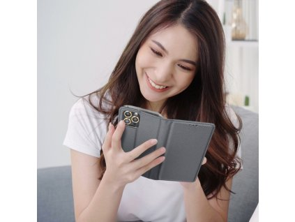 Forcell pouzdro Smart Case Book pro Apple iPhone X - ocelové