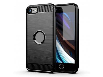 Pouzdro Forcell Carbon back cover pro Apple iPhone 7/8 Plus - černé