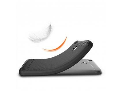 Pouzdro Forcell Carbon back cover pro Xiaomi Redmi 4X - černé
