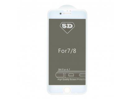 "Forcell Tvrzené sklo 5D Full Glue pro Apple iPhone 7/8 4.7"" Privacy - bílé"
