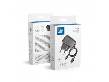 Cestovní Nabíječka Blue Star LITE do sítě s odnímatelným micro->USB kabelem / 1A