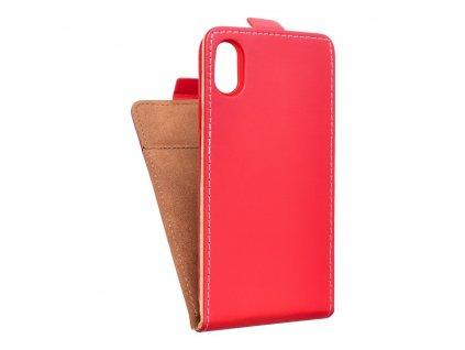 Forcell pouzdro Slim Flip Flexi FRESH pro Apple iPhone X - červené