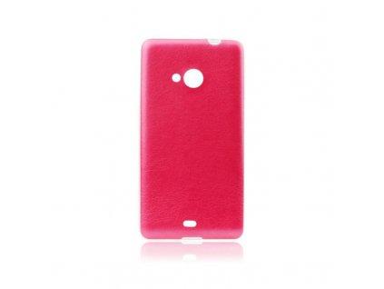 72747 pouzdro jelly leather case pro sony d2303 xperia m2 cervene