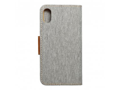 Pouzdro Canvas Mercury Book pro Apple Iphone X šedé