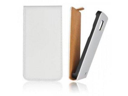 Pouzdro Slim Flip FLEXI pro Microsoft Lumia 640 - bílé