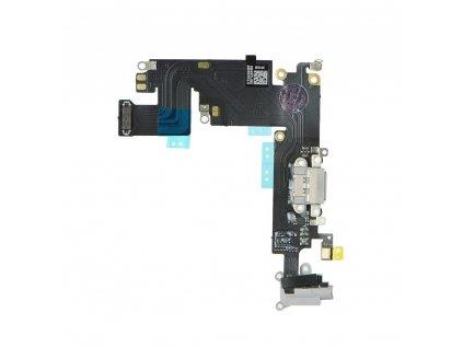 """Flex kabel konektoru nabíjení iPhone 6 Plus (5.5"""") +mikrofon+AV - černá"""