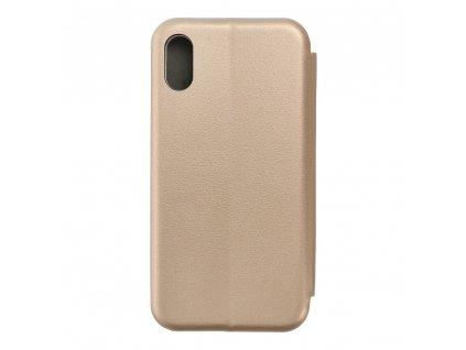 Pouzdro Forcell Book Elegance Apple Iphone 8 zlaté