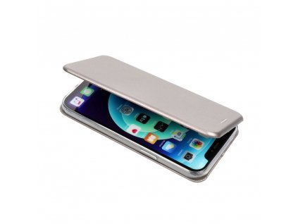 Pouzdro Forcell Book Elegance Apple Iphone X ocelové