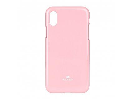 Pouzdro Goospery Mercury Jelly pro Apple Iphone XS světle růžové