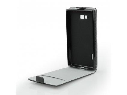 Pouzdro Forcell Slim flip flexi Huawei P8 LITE (2017) černé