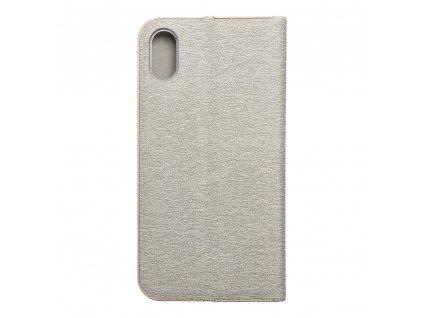 Pouzdro Forcell Luna Book Apple Iphone X stříbrné