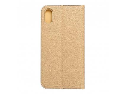 Pouzdro Forcell Luna Book Apple Iphone X zlaté