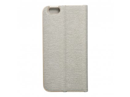 Pouzdro Forcell Luna Book Apple Iphone 6 stříbrné