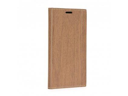 Pouzdro Forcell WOOD Book Samsung Xcover 4 hnědé