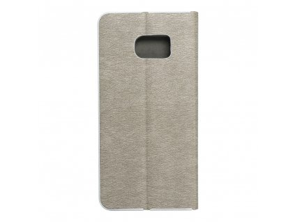 Pouzdro Forcell Luna Book Samsung Galaxy S7 Edge (G935) stříbrné