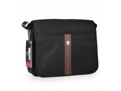 """Taška Ferrari Urban Collection přes rameno na tablet a laptop do 15,6 """" - černá"""