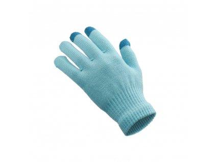 Rukavice pro dotykové obrazovky (dámská 18x11 cm) - modrá