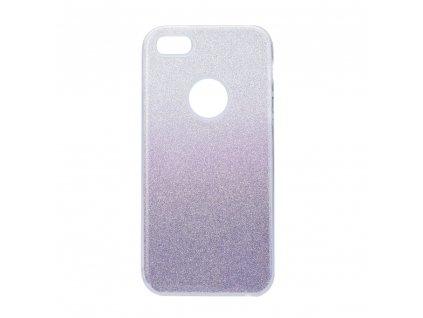 Pouzdro Forcell SHINING Apple Iphone 5/5S/SE transparentní/fialové