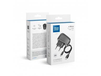 Cestovní Nabíječka Blue Star LITE do sítě s odnímatelným micro->USB kabelem / 2A