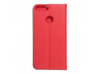 Pouzdro Forcell Luna Book Huawei P Smart červené
