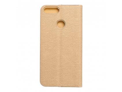 Pouzdro Forcell Luna Book Huawei P Smart  zlaté