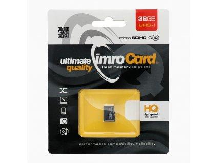 Paměťová karta IMRO 32GB microSD CLASS 10 UHS bez adaptéru SD (Blister)