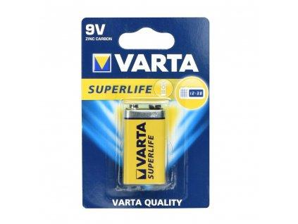 VARTA Superlife zinkouhlíková baterie 9V