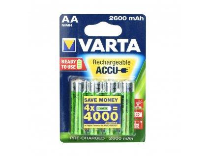 VARTA nabíjecí baterie R6 (AA) 2600 mAh - 4 ks