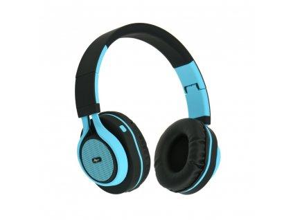 Stereo Bluetooth sluchátka s mikrofonem AP-B04 černo - modré