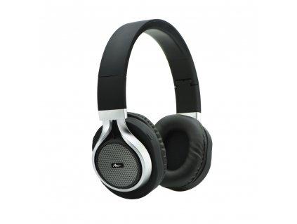 Bluetooth stereo sluchátka s mikrofonem AP-B04 černé/ stříbrné