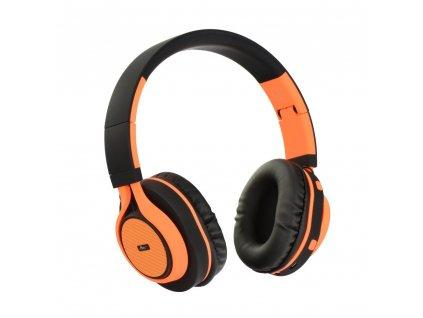 Stereo Bluetooth sluchátka s mikrofonem AP-B04 černo - oranžové