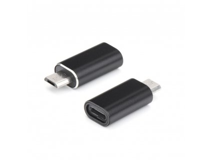 Adaptér nabíječky Lightning Apple Iphone - Micro USB černý