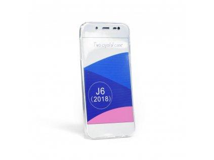 """Pouzdro 360"""" Ultra Slim Přední+zadní Samsung Galaxy J6 2018 transparent"""