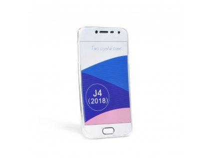 """Pouzdro 360"""" Ultra Slim Přední+zadní Samsung Galaxy J4 2018 transparent"""