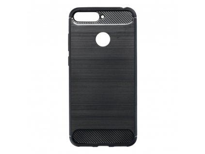Pouzdro Forcell Carbon Huawei  Y6 PRIME 2018 černé