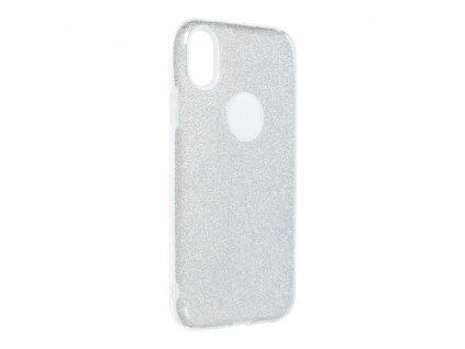 "Pouzdro Forcell SHINING Apple Iphone XR (6,1"") stříbrné"