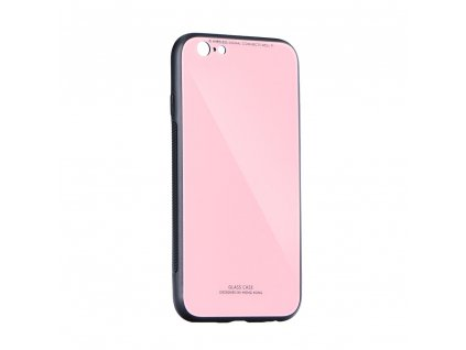 Pouzdro Forcell Glass Apple Iphone X růžové