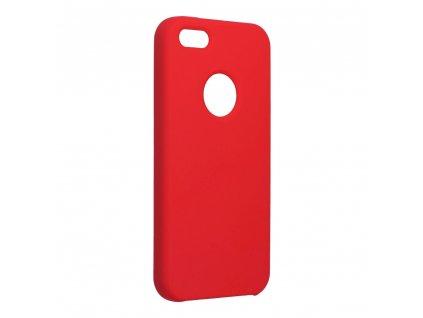 Pouzdro Forcell Soft-Touch SILICONE Apple Iphone 5 / 5S / 5 SE červené