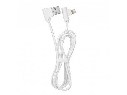 Kabel USB 90 stupňů pro Apple Iphone, Ipad - Lightning  bílý