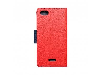Pouzdro typu kniha Fancy XIAOMI Redmi 6a červené - navy blue