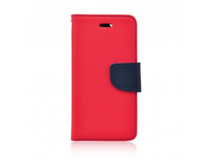 Pouzdro typu kniha Fancy LG G7 červené - navy blue