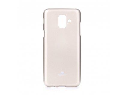 Pouzdro Goospery Mercury Jelly Samsung Galaxy A6 zlaté