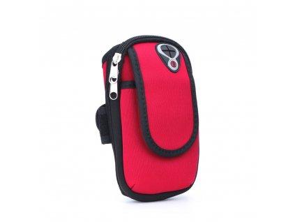 Sportovní pouzdro/ kapsa na ruku - červené