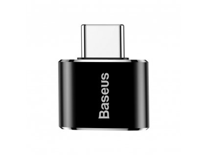Adaptér BASEUS Micro USB / Micro USB typ C - černý