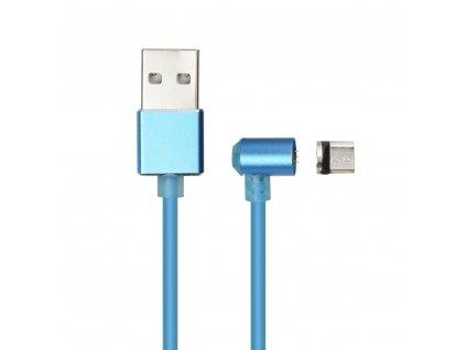 MicroUSB magnetický nabíjecí/datový kabel - modrý