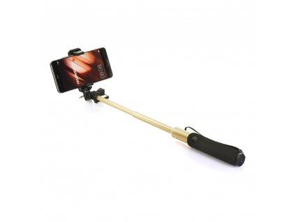 Selfie tyč/ držák Remax P5 - zlatý
