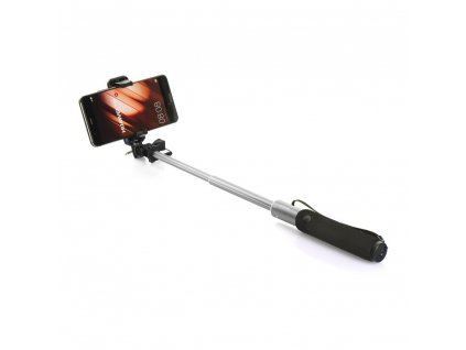 Selfie tyč/ držák Remax P5 - stříbrný