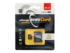 pametova karta imro microsd 2 gb adapter sd blister 2 w1200 cfff